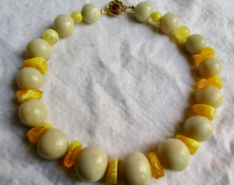 Little Creations GP Clasp with Natural Amber Graduated Reconstituted and Melted Massive sized Bead Necklace with Certified Appraisal 975