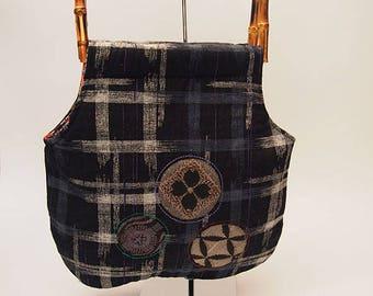 Japanese Kasuri pattern Bag