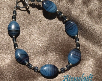 Stunning Purple and Blue Bracelet