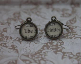 The Hatter Earrings ~ Alice's Adventures In Wonderland ~ Lewis carroll ~ Mad Hatter ~ Tea Party ~
