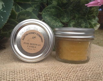 Beeswax Candle in Glass Jar