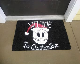 Welcome to Christmas Town Mat