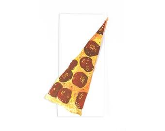 Pizza Slice Die-Cut Greeting Card