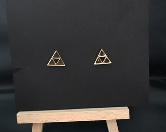 Legend of Zelda Triforce Stud Earrings