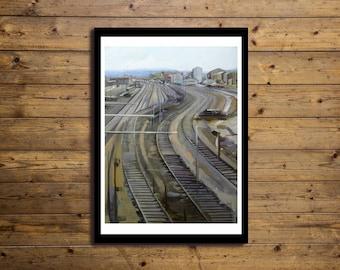 Poster Artistico 50x70cm TRAIN