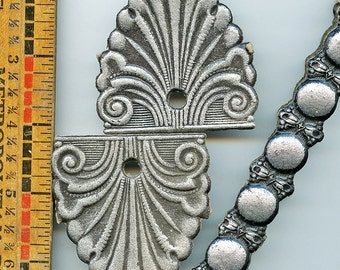 """Silver Molded Paper 1800s Victorian """"METAL"""" Antique Embossed CHOICEof Style Pressed MORE AVAlLABLE"""
