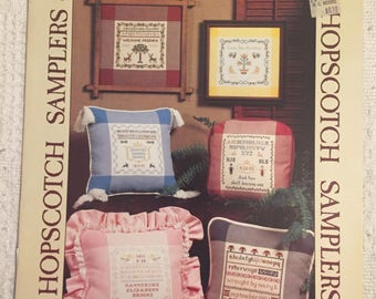 Hopscotch Cross Stitch-Samplers, Silhouettes, Country and Quilt Designs-Three Booklets