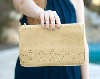 Gold Ava Clutch Purse, Personalized Bag