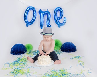 Balloon Banner - One Balloon - 1st birthday - Mylar Balloons - First Birthday Balloons - First Birthday Banner - Party - High Chair Banner