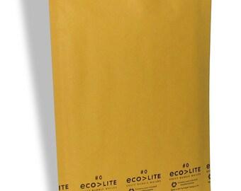100 0 6x10 Ecolite Kraft Bubble Mailers