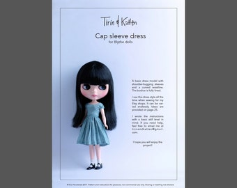 Blythe dress pattern with detailed instructions. PDF download.