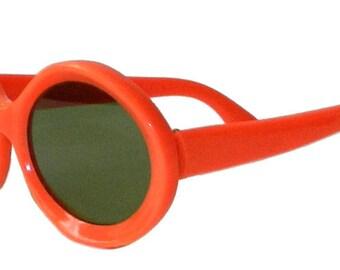 Vintage 1960s Mod Style Orange Sunglasses Never Worn