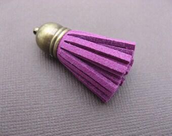 Bronze purple suede tassel