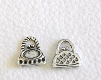 1 shape Tibetan silver purse charm
