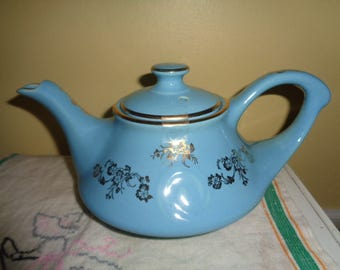 Beautiful Vintage Gold Trim Pearl China Teapot