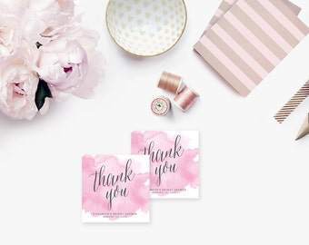 Printable Bridal Shower Gift Tags / Customized Favor Tags, Thank You Tags - Wisteria