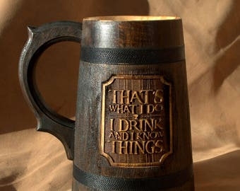Game Of Thrones Mug Game of Thrones Gift Tyrion Lannister inspired Thats what i do i drink and i know things mug GroomsmenGift Set of 3 mugs