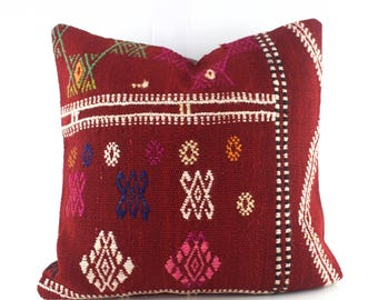 Kilim Pillow Decorative Pillows For Couch Kilim Pillows Kilim Pillow Cover Turkish Sofa Pillows 16X16 Kilim Cushion Couch Kilim Pillow Cover