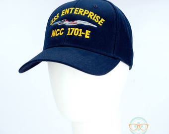 Star Trek Hat - The Next Generation TNG - USS Enterprise 1701-E - Embroidered Geeky Baseball Cap - Naval Hat Inspired