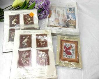 Vintage cross stitch kits vintage embroidery kits vintage needlework kits vintage counted cross stitch kits mix and match