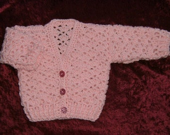 crochet baby cardigan (ref E163)