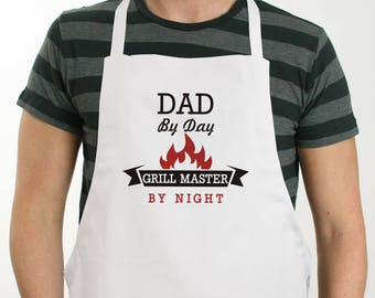 Personalized Grill Master Apron, grill master, grilling, grilling apron, for him, father's day gift, dad, outdoor, kitchen -gfy8103627X