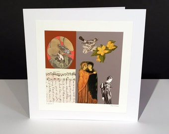 Caprice 2. Fine Art Card. Vintage Themed Handmade Card. Any Occasion Card.
