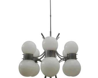 Original Chandelier, Designed by Gaetano Sciolari in the 1970s