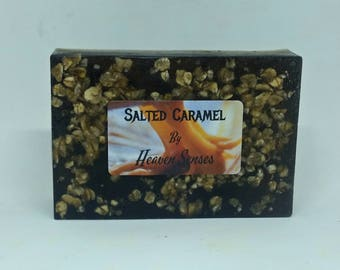 Salted caramel scented soap bar by Heaven Senses.