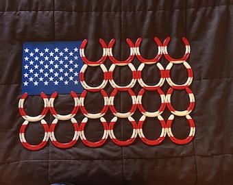Horseshoe American Flag