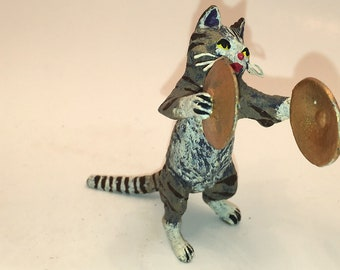 Cat with Cymbals