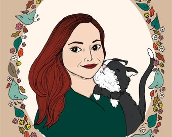 Custom Portrait, Pet Portrait, Family Portrait, Illustration