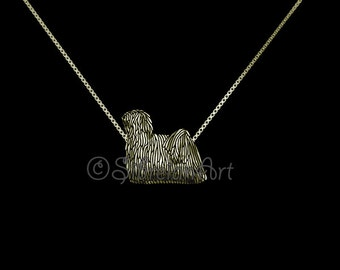 Puli - solid 14k Gold pendant and necklace