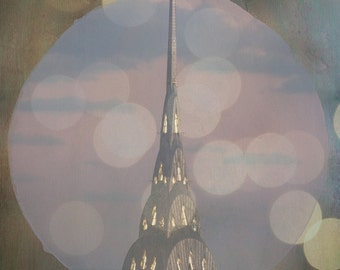Window to the Chrysler - Chrysler Building - 8x10 photograph - New York City - vintage - Bokeh - Manhattan architecture - New York skyline