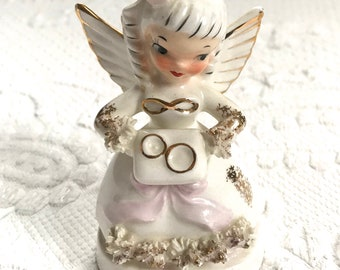 June angel  . June Wedding . Ring bearer .June angel figurine . birthday angel . June Birthday angel . Angel with bonus . NAPCO