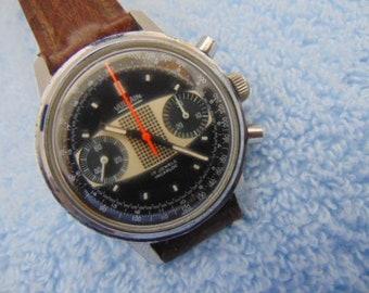 Mens Vulcain Grand Prix 2 Register Chronograph 17 jewel with Swiss Valjoux 7733