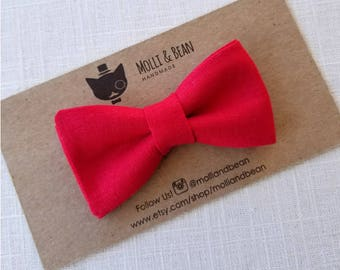 Boys Red Bow Tie, Toddler Red Bow Tie, Baby Red Bow Tie, Red Bow Tie, Red Ring Bearer Bow Tie, Easter BowTie