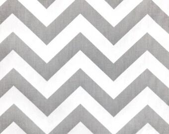 Chevron / Premier Prints Fabric in Storm Gray / White Twill