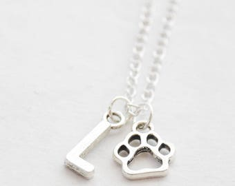 Paw Print Necklace, Paw Necklace, Cat Paw Necklace, Dog Paw Necklace, Personalized Animal Necklace Pet Memorial necklace