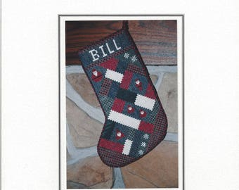 """Clearance - """"A Santa Stocking"""" counted Cross Stitch Chart by Sekas & Co."""
