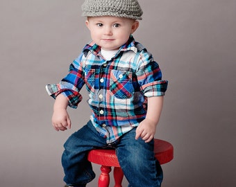 9 Sizes Boy Hat Baby Hat Toddler Hat Baby Boy Hat Toddler Boy Hat Irish Wool Donegal Cap Donegal Hat Gray Flat Cap Driving Newsboy Paper Boy