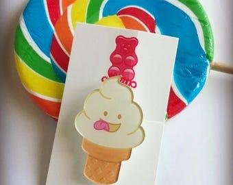 Syrup Kawaii Ice Cream Brooch