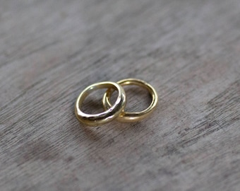 Hammered stacker rings