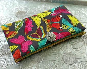 Women's Wallet, Butterfly Wallet, Wallet Clutch