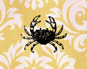 Crab Stamp: Wood Mounted Rubber Stamp