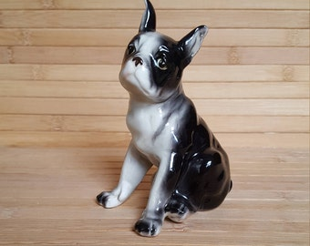 French bulldog, French bulldog figurine, ceramic French bulldog, ceramic dog, french bulldog ornament