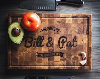 Solid Oak Chopping Board - Personalised chopping board - Personalized - Cutting board - Lasered wood - Bespoke cutting board
