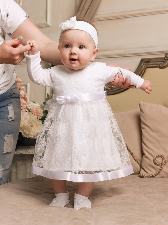 baby girl baptism dress christening gown baptism dress. Black Bedroom Furniture Sets. Home Design Ideas