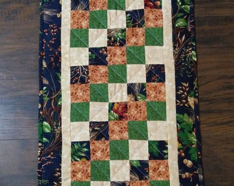 Hand made table runner, Machine quilted table runner, Fall table runner, Country table runner