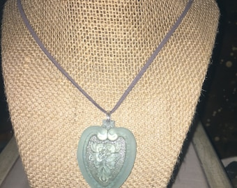 Vintage glass pendant Necklace